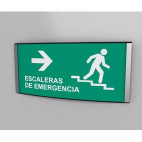 Escaleras De Emergancia Derecha Protección Civil 20cmx10cm