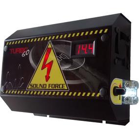 Fonte Automotiva Sound Force 60 A Com Regulador E Voltímetro