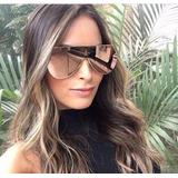 Oculos De Sol Feminino Fendi Eyeline Shield Máscara