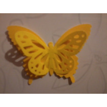 Mariposa Monarca Doble Papel Bond Amarilla, Eventos Qmafq