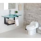 Combo Sanitario 1 Pieza Con Mueble Baño Temple Madera Con