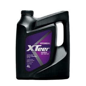 Aceite De Motor 100% Sintetico Hyundai Xteer 10w40 Gas 4 L