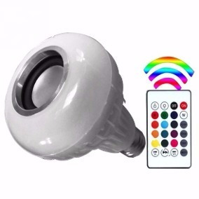 Lâmpada Musical Com Várias Cores De Led Conexão Bluetooth