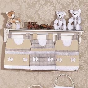 Kit Acessórios Bears - 6 Peças - Branco/palha
