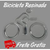 Bicicleta Resinada - Frete Grátis, Emblema, Adesivo, Relevo.