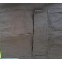 Calça Brim Elástico C/ Bolso Cargo Uniforme Industrial