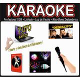 Karaoke Profesional Usb + Led + Listado + Mic Inalambrico