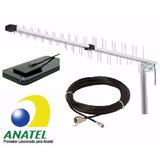 Antena Rural Celular +adaptador+cabo 800/900/1800/1900 Mhz