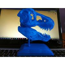 T-rex Dinosaurio Skull Impreso En Pla 3d