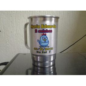 100 Un. Canecas Alumínio 400ml Personalizada
