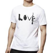 Camisetas Engraçadas Love Armas 1635