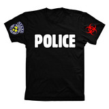 Camiseta Camisa Resident Evil Stars Raccoon Police Mod3