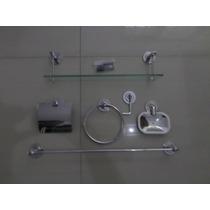 Kit Banheiro Inox C/porta Shampoo 40cm 5 Anos De Garantia