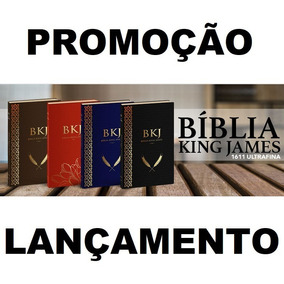 Bíblia King James Texto Fiel 1611 Ultra Fina Slim