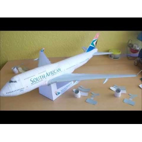 Maquete 3d Boeing 747-400 South African