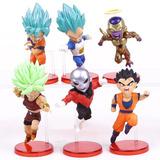 6 Figuras Dragon Ball Super Goku Vegeta Jiren / Happy Store