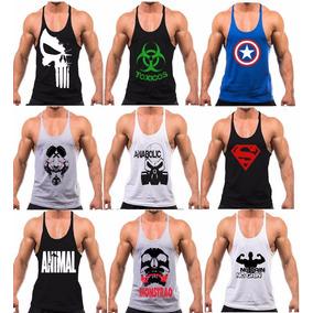 9 Regatas Cavada Masculina Para Treino Academia Musculação