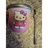 Mate De Diseño Exclusivo Hello Kitty Con Bombila Un Lujo Ver
