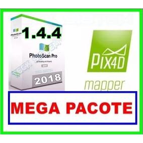 Agisoft Photoscan Pro 1.4.4 + Pix4dmaper + App Mega Pacote