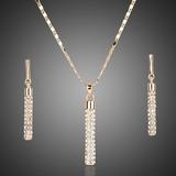 Juego Collar Y Aretes Para Mujer Con Cristales Austriacos