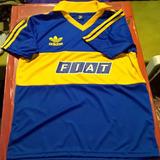 Camiseta Boca Juniors Retro 1990-1991 Fiat Sevel Titular
