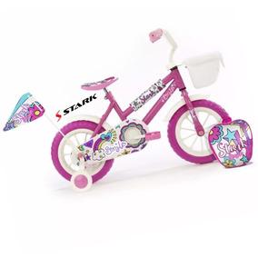 Bicicleta Infantil Stark Smile Nena Rod 12 Canasto Mochila