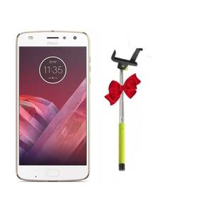 Celular Motorola Moto Z2 Play Dorado Combo Selfie Stick