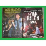 2 Libros, Iron Maden Y The Van Halen Saga, (en Ingles)
