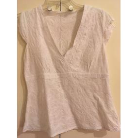 Camisa Blusa Mujer Blanca Sin Manga Talle S