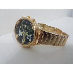 2a581dc7081 Relógio Shiweibao Dourado Diesel Duplo Movimento Masculino. R  219