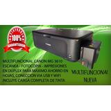Canon Multifuncional Mg 3610 Wifi - Duplex Sistema Continuo