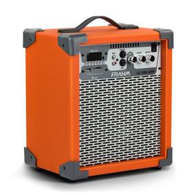 Caixa Som Frahm Laranja Amplificada Bt/usb Entrada Microfone