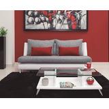Sofá Moderno De 3 Puestos Tapizado Ecocuero Y Tela. Verona