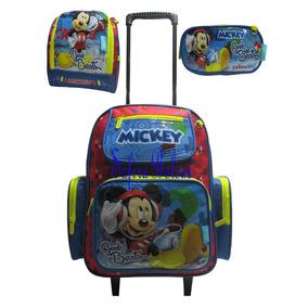 Kit Mochila Lancheira Escola Infantil Rodi Mickey Mouse 2017