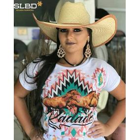 Blusa Baby Look Radade Country Sublimada Cavalo Branca a0e664dcf12