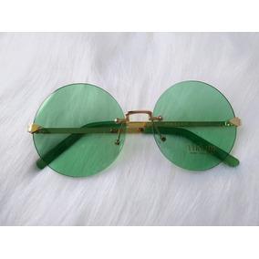 Óculos De Sol Moda Vintage Retro Redondo Uv400 Frete Grátis. 7 vendidos -  Minas Gerais · Óculos Lente Transparente Colorida Redondo Grande Lançamento 8686b75585