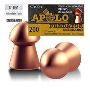 Balines Apolo Predator 5.5 X 200 Peso:1,27grs 20g Dogohunter