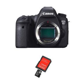 Câmera Digital Canon Eos 6d Corpo + Cartão Sd 32gb Classe 10