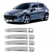 Cubre Manijas Cromados Peugeot 307 Y Citroen C3 Hasta 2012