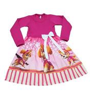 Vestido Infantil Skye Patrulha  Manga Longa Inverno Fab2