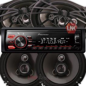 Combo Pioneer Mvh295 + 4 Parlantes Soundstream 6 + 6x9