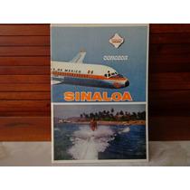 Raro Libro Aeronaves De Mexico Sinaloa De Los 70´s Clasico
