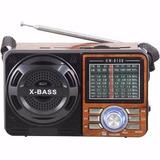 Rádio Portátil Mp3 Usb Cartão Sd Pen Drive Am/fm Mod: 108