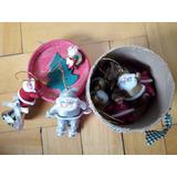 Navidad - Caja Con 8 Muñequitos Papa Noel