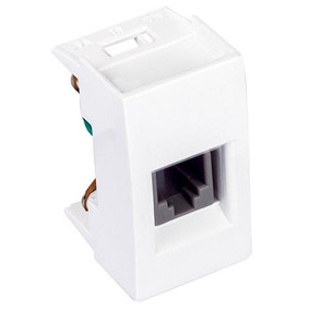 Módulo P/ Entrada Telefónica Scudetto, Blanco - Caja 10 Pzas