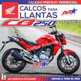 Calcos Para Llantas Honda Cb250 Twister Cbr Cb125 Cb500