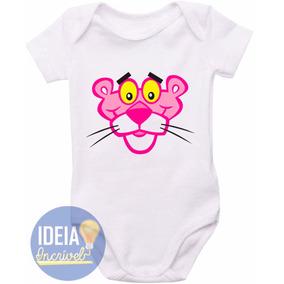 Body Bebê - Infantil - Pantera Cor De Rosa