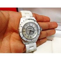 Chanel J12 Ceramica Blanca 33 Mm Dama Cuarzo Diamantes