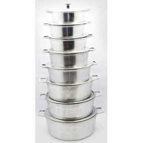 Jogo De Panelas Grandes Em Aluminio Fundido 8 Peças