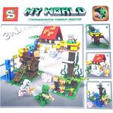 Kit 3 Em 1 Lego Minecraft 447 Peças My World Sy853 2017 Br68